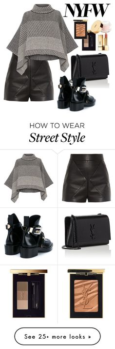 """""""NYFW 2016 Street Style"""" by chicville on Polyvore featuring Balenciaga, Piazza Sempione, Yves Saint Laurent and YSL"""