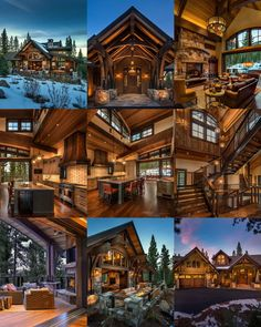 SF Mountain Transitional Lodge on a steep site with limited building area designed to capture views in two directions. Completed Fall Home Plate Lodge, Martis Camp, Lake Tahoe, CA Rustic Home Design, Dream Home Design, House Design, Rustic Decor, Rustic Loft, Log Cabin Homes, Log Cabins, Luxury Homes Dream Houses, Mountain Homes