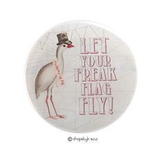 Items similar to 3 inch Pocket Mirror: Let Your Freak Flag Fly on Etsy Freak Flag, Counter Display, I Shop, Magnets, Let It Be, Graphic Design, Pocket, Mirror, Abstract
