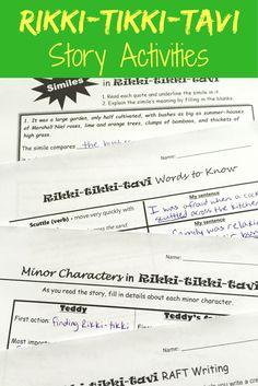 Rikki tikki tavi plot diagram activity using story elements plot rikki tikki tavi activites vocabulary characters and more fandeluxe Choice Image