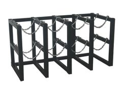 Gas Cylinder Rack Barricade 8 Tanks (4x2) BR4X2FS - USAsafety.  sc 1 st  Pinterest & Medical Gas Storage Racks | Storage | Pinterest | Storage rack and ...