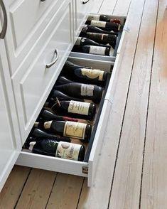 Vinförvaring Kitchen Cabinet Remodel, Diy Kitchen Remodel, Kitchen Drawers, Kitchen Cabinets, Diy Kitchen Storage, Ikea Storage, Storage Ideas, Extra Storage, Kitchen Organization