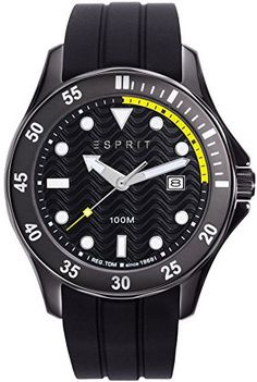 Esprit Casual Watch For Men Analog Rubber - Casual Watches, Watches For Men, Latest Watches, Rolex Watches, Latest Fashion, Michael Kors, Egypt, Shopping, Clock