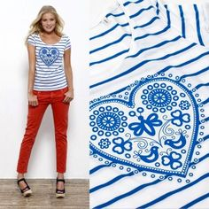 majofka-blue-eshop Love T Shirt, Summer Of Love, Something To Do, Beach Mat, Screen Printing, Organic Cotton, Folk, Outdoor Blanket, Trending Outfits
