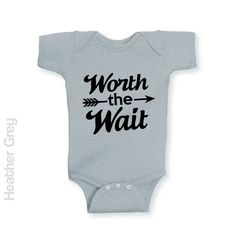 Worth The Wait - Infant Onesie | One-Piece Bodysuit | Baby Clothes | Also On Etsy