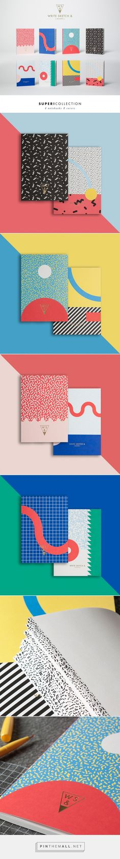 Write Sketch & Super Collection - Notebooks Designed by Officemilano. Geometric patterns and minimalism. Web Design, Layout Design, Logo Design, Branding And Packaging, Packaging Design, Design Graphique, Art Graphique, Design Poster, Print Design