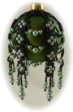 Free Beaded Victorian Ornaments Patterns | kristen stevens patterns mystic pearls ornament cover pattern item ...