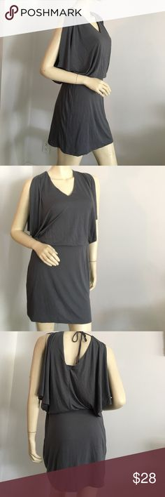 🍁 ✨ Blu Heaven grey tunic dress Blu Heaven vneck dress. Fully lined, open sleeves, ties in back and elastic waist. This dress is very lightweight and comfortable! blu heaven Dresses