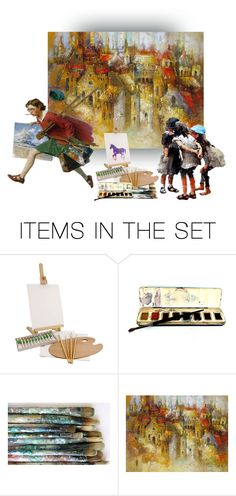 """The Painter                                      (TA&ES)"" by ildiko-olsa ❤ liked on Polyvore featuring art, topset, topartset, Thepainter and topartandexpressionset"