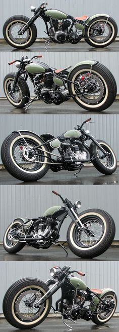 Yamaha dragstar 1100 oldscool bobber build by geert baudet for Yamaha eugene or