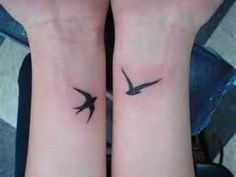 Bird Tattoo Design On Wrist