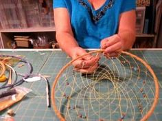 dreamcatcher tutorial. Oh my gosh. I haven't made a dream catcher in years. Now I want to make one.