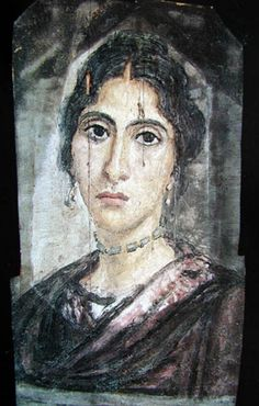 Fayum mummy mask of a young woman