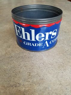 1950s Ehlers Coffee Tin by 3LittleWitches on Etsy