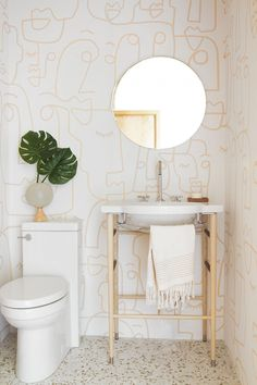 ] Cozy Eclectic Bathroom Vanity Designs Ideas Using Wood Cozy Living Emily Henderson Bathroom Trends 2019 Emily Henderson 10 Of The Most Exciting Bathroom Design Trends For 2019 Wallpaper Inspiration, Bad Inspiration, Bathroom Inspiration, Wallpaper Ideas, Graphic Wallpaper, Eclectic Wallpaper, Bold Wallpaper, Spring Wallpaper, Modern Wallpaper