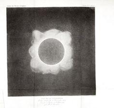 Public Domain Free Vintage Science Image of Solar Eclipse