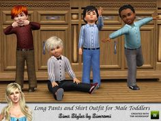 OBJnoora :: Pants_and_Long_Sleeve_Shirt_for_Boy_Toddlers