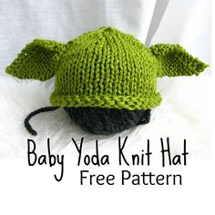 Baby Yoda Knitted Hat Free Pattern - lots of Star Wars Free Crochet Patterns on our site
