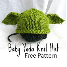 Baby Yoda Hat Knitting Pattern : Free Knitting Pattern for Roll Brim Hat for Babies and Kids Free Knitting P...