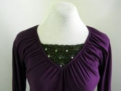 make a tiered modesty panel for low cut shirts