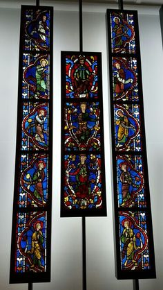 Stained glass windows at Victoria and Albert Museum, London