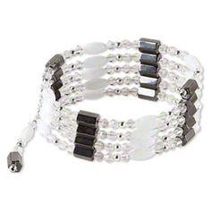 Magnetic Hemae Convertible Wrap Bracelet Necklace Gunmetal Silver White Grey Ebay