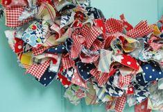 dsc 0035 800x547 DIY Summer Rag Wreath