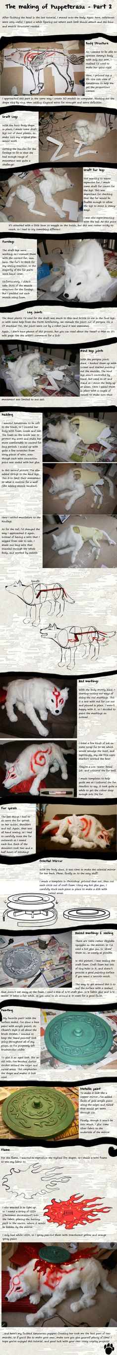 Making of a wolf puppet (part two)