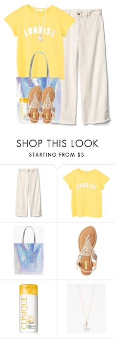 """""""cute summer basics"""" by purplicious ❤ liked on Polyvore featuring Gap, MANGO, Boohoo, Qupid, Clinique and Full Tilt"""