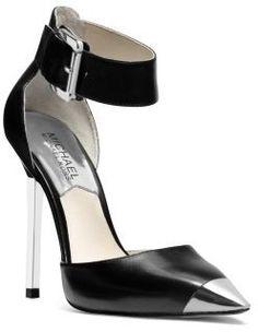 MICHAEL Michael Kors Zady Ankle-Strap Leather Pump on shopstyle.com
