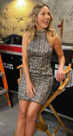 Clare Crawley's Embellished Dress on After the Final Rose Bachelorette Finale, After The Final Rose, Clare Crawley, Big Blonde Hair, Style Stealer, Embellished Dress, Brad Pitt, Hair Highlights, Celebrity Style
