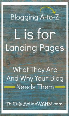 What are landing pages and why do you need them on your blog?