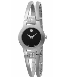 Movado Women's 604982 Amorosa Diamond Accented Bangle Bracelet Watch $569.00 @ Amazon