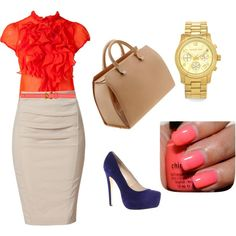 """look orange"" by belezadeester on Polyvore"