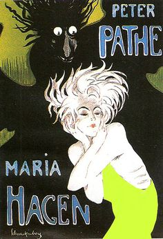 Maria Hagen, 1920s poster by Walter Schnackenberg (German 1880-1961)