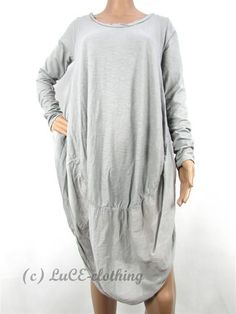 Scoop Neck / Sleeveless / Drape Look. Floral Tunic, Cotton Silk, Ranges, Crochet Lace, Plus Size, Italy, Boho, Grey, Sweaters