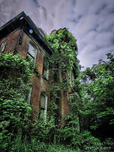 "This abandoned mansion in Germany is called Herenhuis. The word ""herenhuis"" refers to a fortified house that was originally owned by a noble family. It often stands on a farm and is comparable to the Dutch term manor. Image by tmdtheue via Flickr."