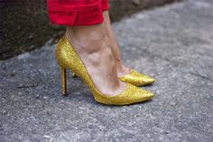 Sidney Artesanato sapatos com gliter