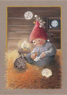 special noel - Page 3 Swedish Christmas, Noel Christmas, Vintage Christmas Cards, Christmas Cats, Xmas Cards, Christmas Ornaments, Illustration Noel, Winter Illustration, Christmas Illustration