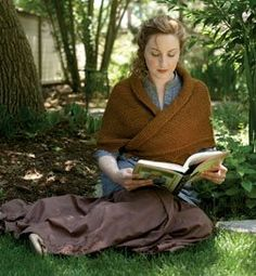 A Sensible Shawl, by Celeste Young, for Jane Austen Knits (Fall 2012) - Have been seeing this shawl pop up in Period Movies and Tv (Downton Abbey) and decided that while I loved loved it before - now its a must knit for next season. CR