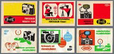 Hungarian matchbox labels - by wackystuff, via Flickr