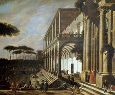 Feast in the Villa of Poggioreale, by Viviano Codazzi (circa 1604-1670. De Agostini Picture Library / A. Dagli Orti / Bridgeman Images.