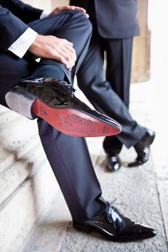 I May write on the bottom of his shoe for good luck! from Paris wedding photographers Anthony and Audrey Brock