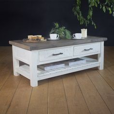 Dorset Purbeck 2 Drawer Reclaimed Wood Coffee Table