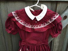1950s Girls Dress 5/6 by lishyloo on Etsy