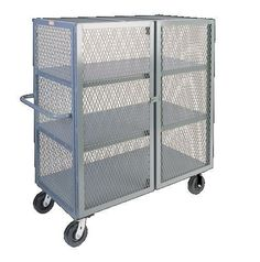 You are buying one Jamco 2 Shelf Mesh Security Truck. This cart comes in a variety of sizes which can be seen below. The casters can be Phenolic, Rubber, or Urethane. If you have any questions or need a shipping quote please feel free to contact us. Trucks Only, Mobile Storage, Cabinets For Sale, Steel Mesh, Trucks For Sale, Metal Crafts, Deco, Joinery, Shelving