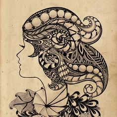 Art work is printed on old paper.