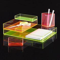 Poppin Acrylic Desk Accessories!