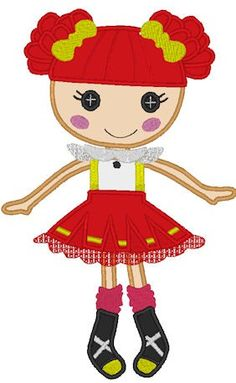 applique designs for embroidery machines by Applicakes Machine Applique Designs, Machine Embroidery Applique, Lalaloopsy, Dolls, Cute, Fictional Characters, Ideas, Embroidery, Kawaii