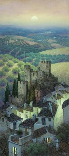 Luis Romero was born in Ronda in 1948 in Spain and uses Spray paint to show his artistic creativity. His paintings and art works are liked b... Spray Painting, Beautiful Landscapes, Spanish Painters, Spanish Artists, Landscape Art, Landscape Posters, Malaga Spagna, Naive Art, Andalusia Spain
